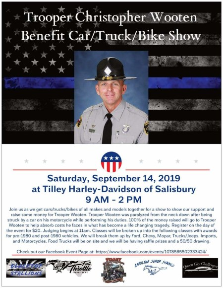 Trooper Christopher Wooten Benefit Car, Truck, and Bike Show