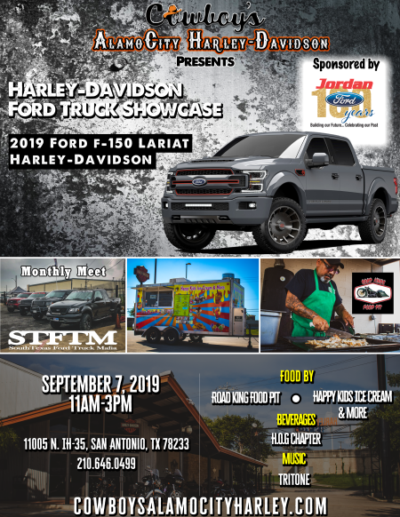 Jordan Ford San Antonio >> Harley Davidson Ford Truck Showcase Cowboy S Alamo City
