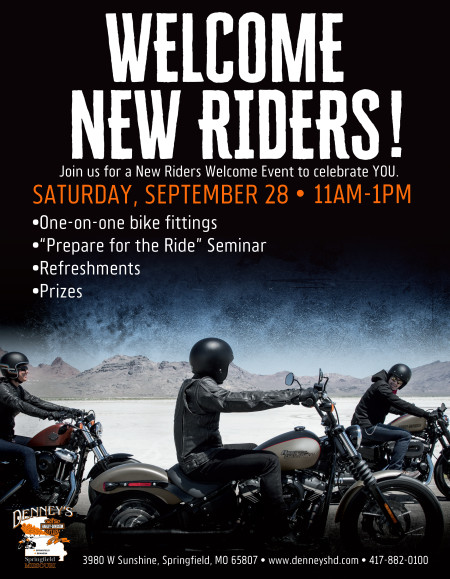 Welcome New Riders Event!