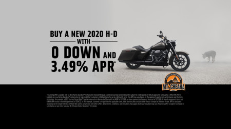 Zero Down on a new 2020 H-D®