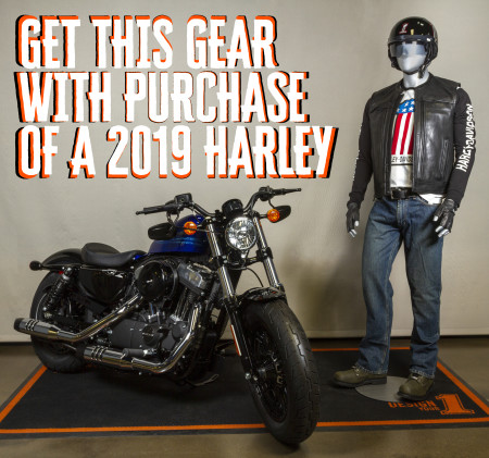 Get Ride Gear with Purchase of 2019 Harley!