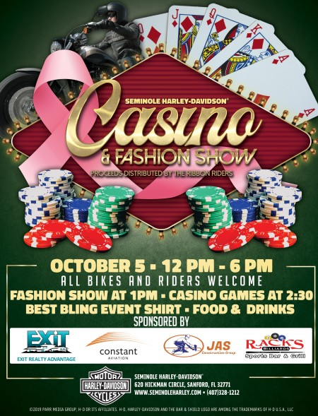 Fashion Show & Casino Games for Breast Cancer