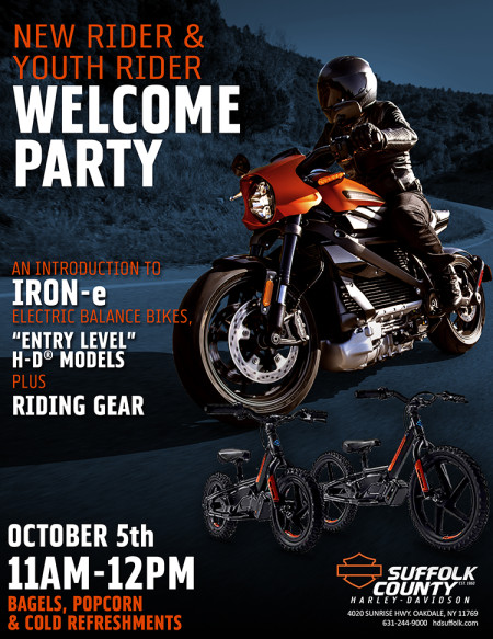 NEW & YOUTH Riders Welcome Party - An Introduction to H-D®