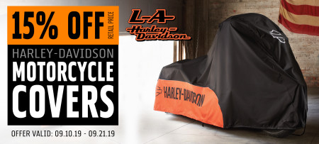 15% Off H-D® Motorcycle Covers