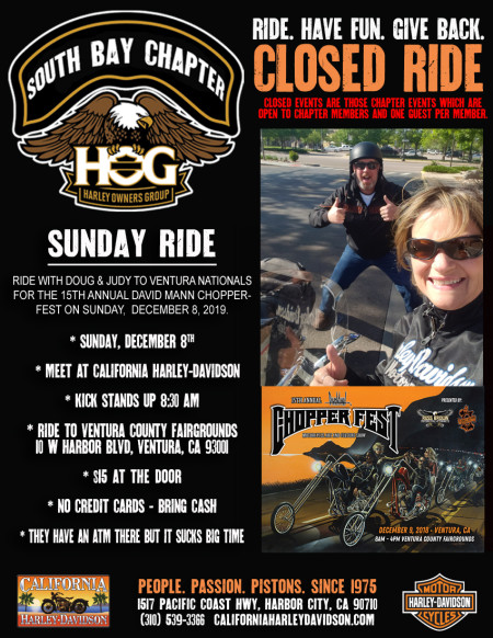 South Bay HOG - Sunday ride with the Setmeyers