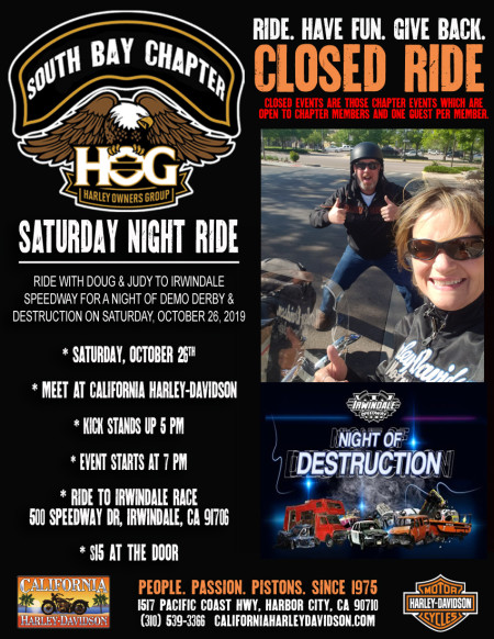 South Bay HOG - Saturday Night ride with the Setmeyers