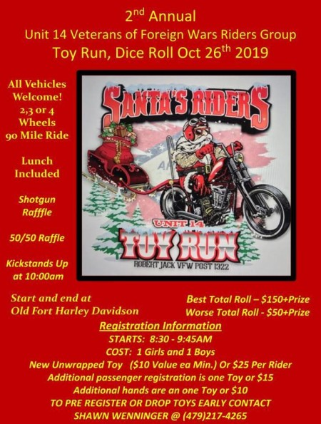 2nd Annual Santa's Riders Unit 14 Toy Run