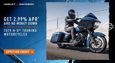 MY19 Touring Offer - Limited Time Special Finance Offer on Select 2019 Harley-Davidson®