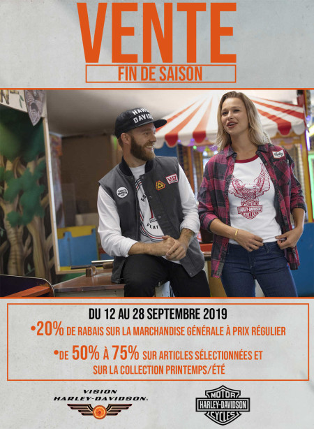 End of season sale from September 12 to September 28