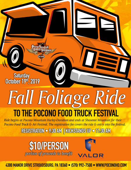 Fall Foliage Ride to the Pocono Food Truck Festival!