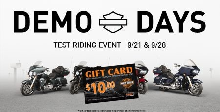 DEMO DAYS $10 GIFT CARD
