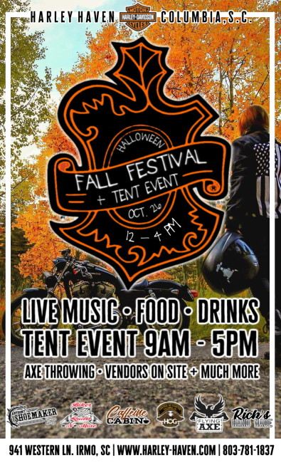Harley Haven Halloween Fall Festival + Tent Event