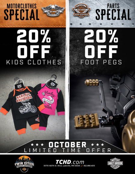 October Specials at Twin Cities Harley-Davidson in Lakeville