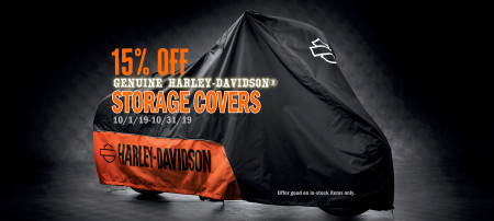 15% OFF GENUINE HARLEY-DAVIDSON MOTORCYCLE COVERS