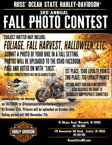 3rd Annual Fall Photo Contest