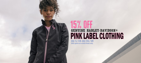 15% OFF PINK LABEL COLLECTION ITEMS