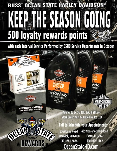 500 Loyalty Rewards Points with each interval service performed in October!