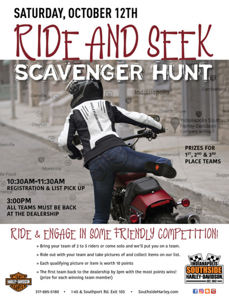 RIDE and SEEK Scavenger Hunt