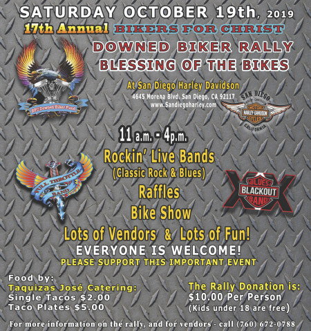 Downed Biker Rally & Blessing of the Bikes.