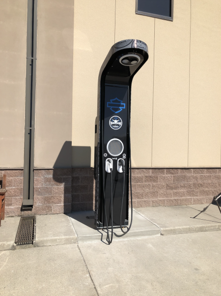 Yellowstone Harley installs first Non-Tesla DC Fast Charge Station in the state of Montana!