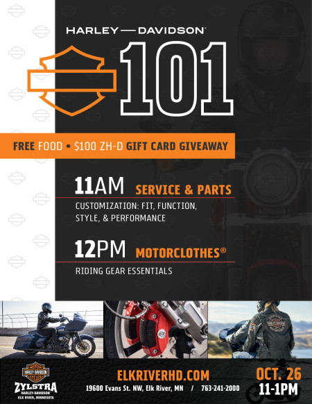 H-D 101 Intro to Motorcycling Workshop