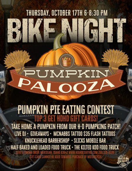 Bike Night - Pumpkin Palooza