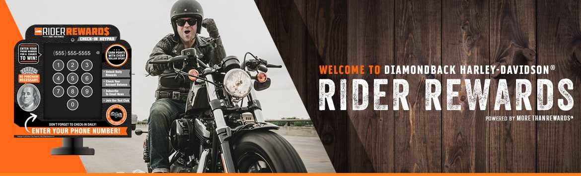 Diamondback Harley-Davidson® Rider Rewards