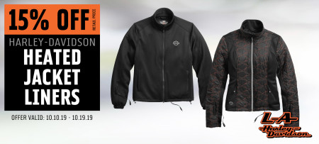 15% Off H-D® Heated Jacket Liners