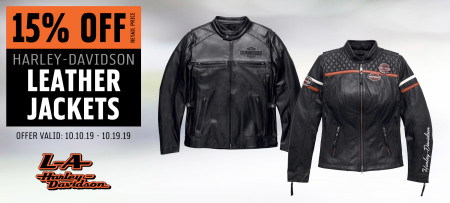 15% Off H-D® Leather Jackets