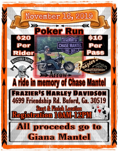 Poker Run in Memory of Chase Mantel