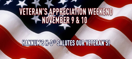 Veterans Appreciation Weekend!