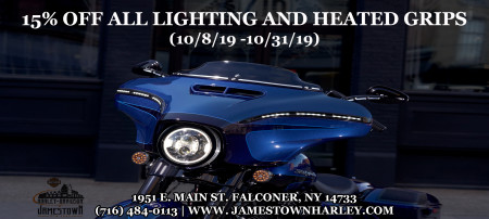 15% Off All Lighting and Heated Grips