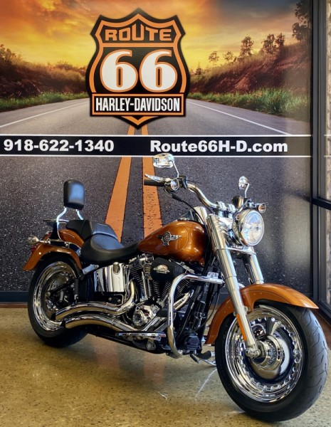 2014 Amber Whiskey HD Fat Boy 103 FLSTF103