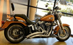 2014 Amber Whiskey HD Fat Boy 103 FLSTF103 thumb 0