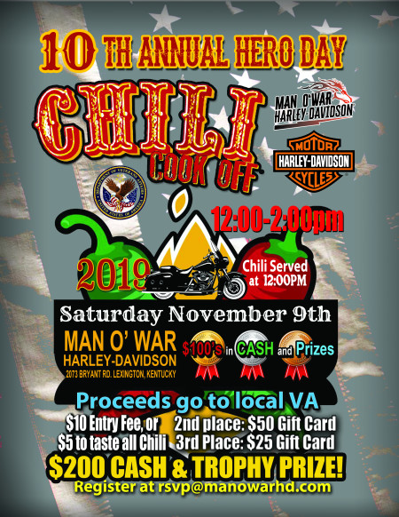 10th Annual Hero Day CHILI COOKOFF