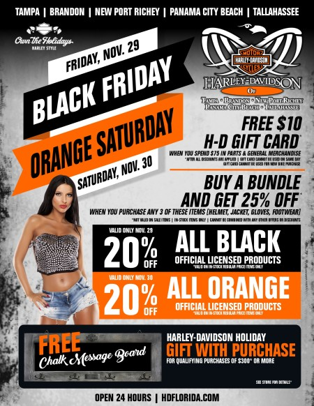 Black Friday // Orange Saturday
