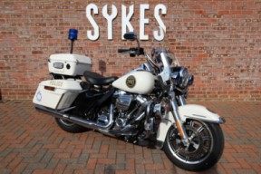 2018 Harley Davidson FLHP Police Road King, Full Stage One, in Birch White  thumb 2