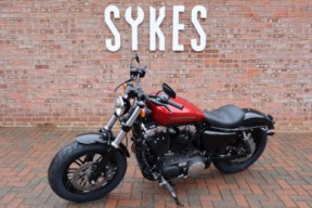 NEW 2019 XL1200X Sportster Forty-Eight, in Wicked Red and Twisted Cherry thumb 1