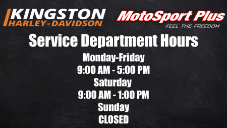 New Service Department Hours
