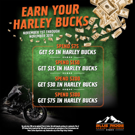 Earn Your Harley Bucks