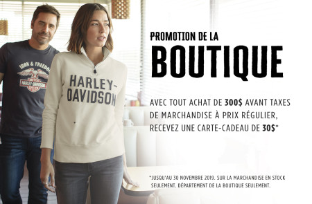 Boutique promotion - November 2019