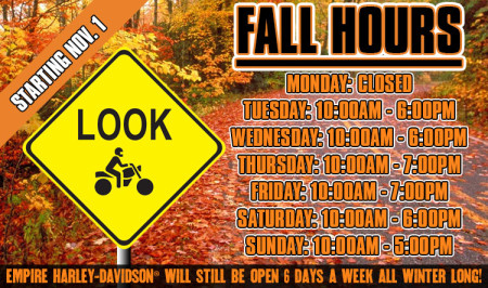 Fall Hours Have Begun