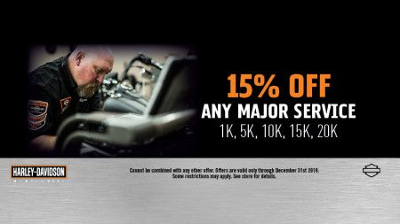 15% off any Major Service