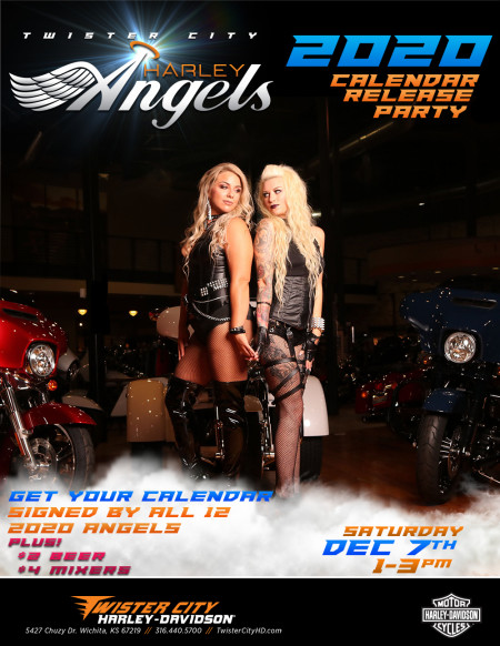 Twister City 2020 Harley Angel Calendar Release Party
