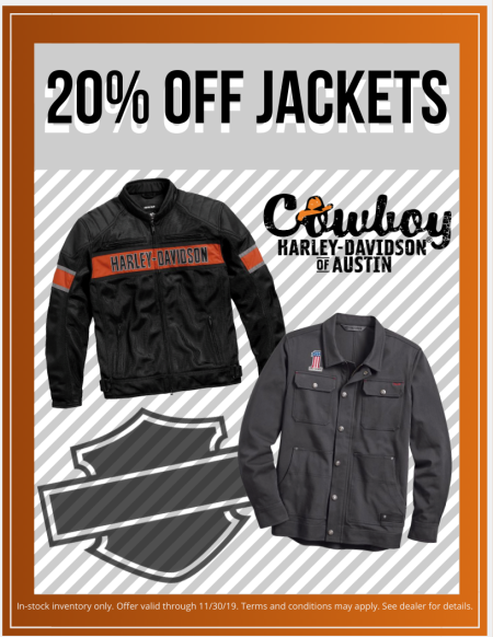 NOVEMBER MOTORCLOTHES COUPON - 20% OFF JACKETS