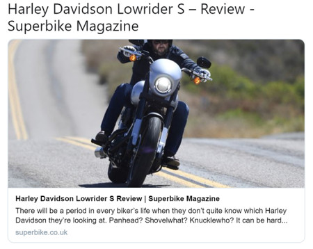 Harley-Davidson Low rider S- review- Superbike Magazine