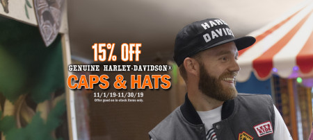 15% Off Caps and Hats