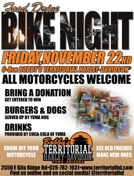 Food Drive Bike Night