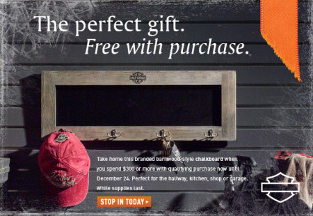 Harley-Davidson Holiday Gift with Purchase