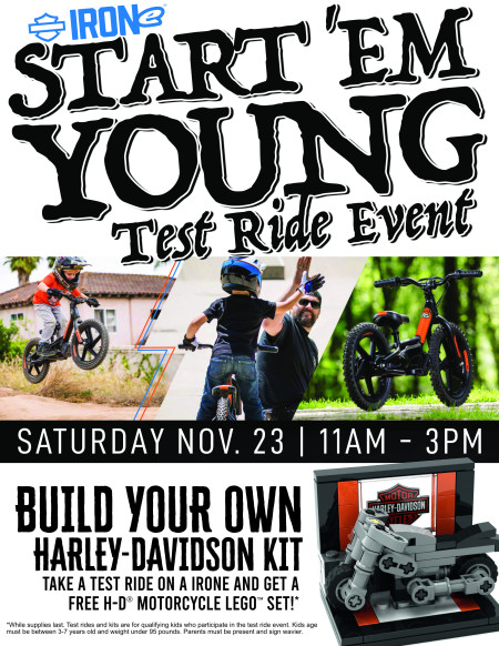 Start 'em young test ride event